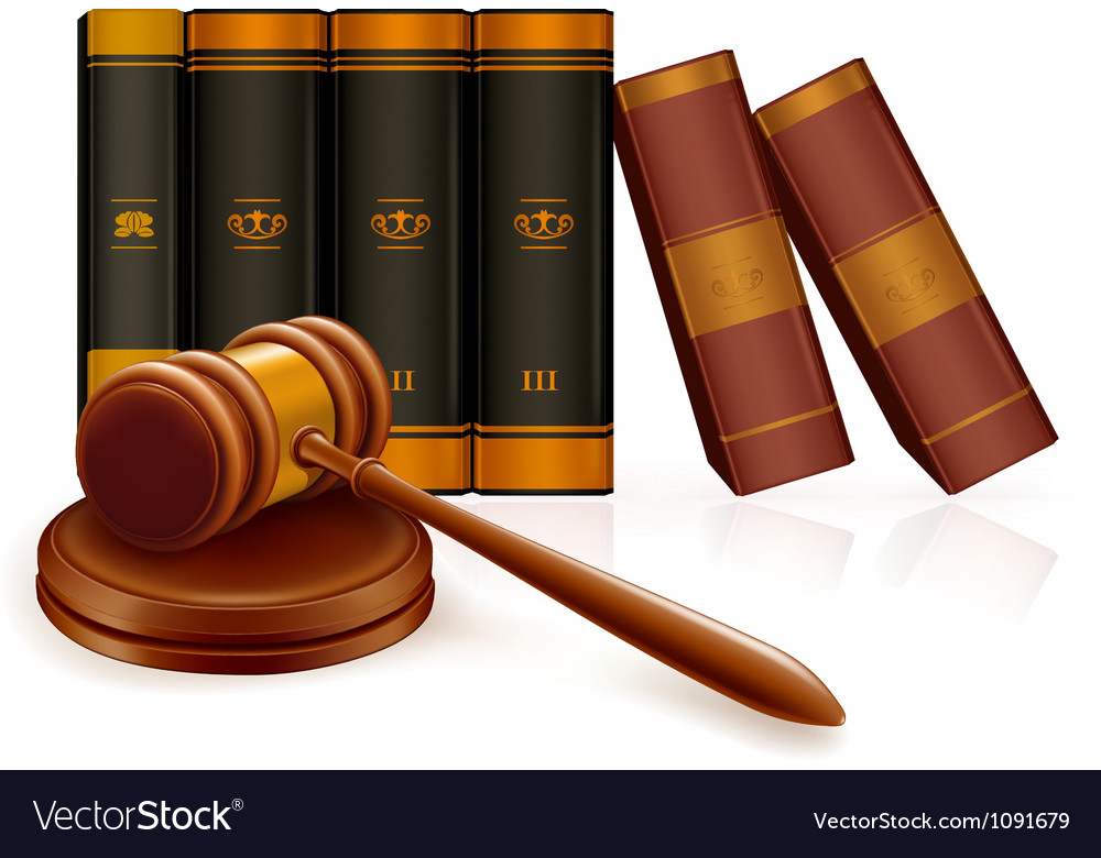 Gavel and books vector | Price: 1 Credit (USD $1)
