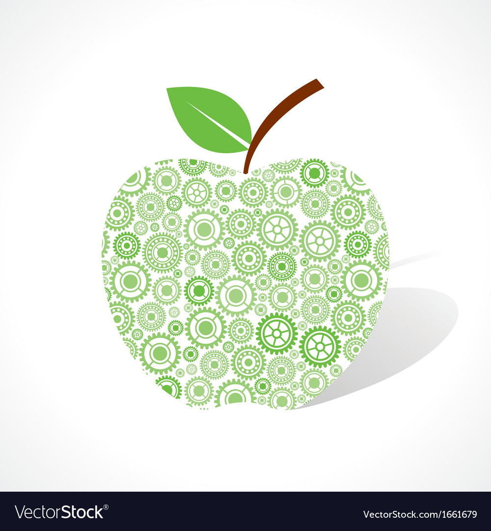 Group of gear make a apple vector | Price: 1 Credit (USD $1)