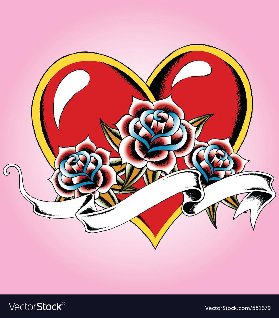 Heart tattoo vector | Price: 1 Credit (USD $1)
