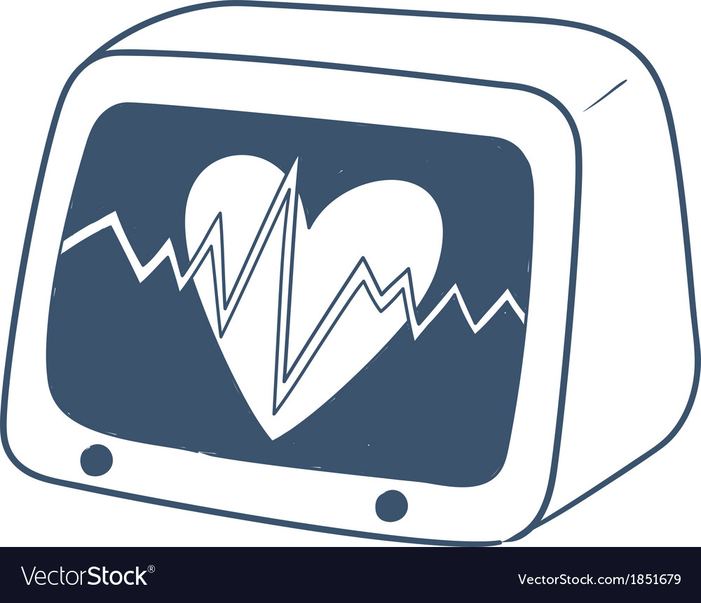 Pulse monitor isolated on white vector | Price: 1 Credit (USD $1)