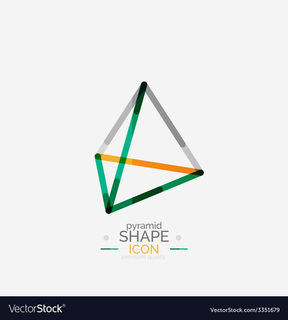 Pyramid shape line design vector | Price: 1 Credit (USD $1)
