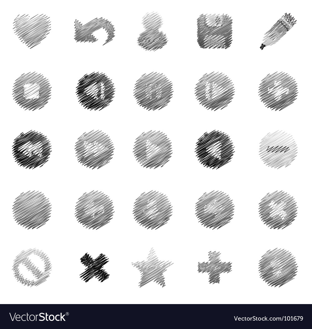 Sketchy icons vector | Price: 1 Credit (USD $1)