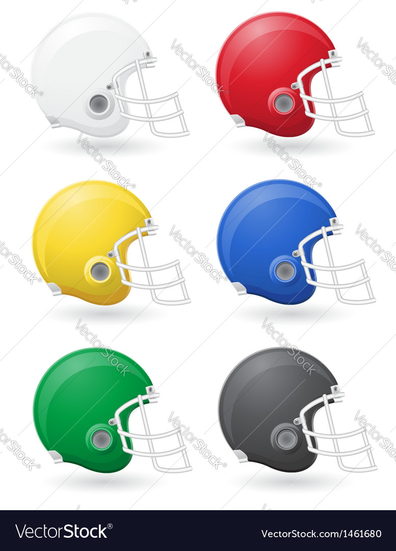 American football helmets vector | Price: 1 Credit (USD $1)