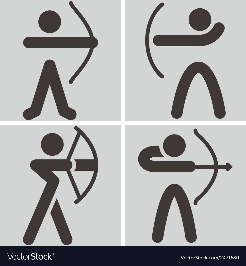 Archery icons vector | Price: 1 Credit (USD $1)