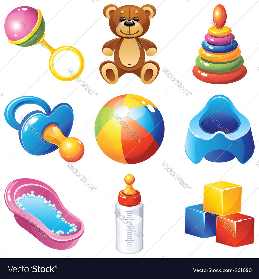 Baby icons vector | Price: 3 Credit (USD $3)