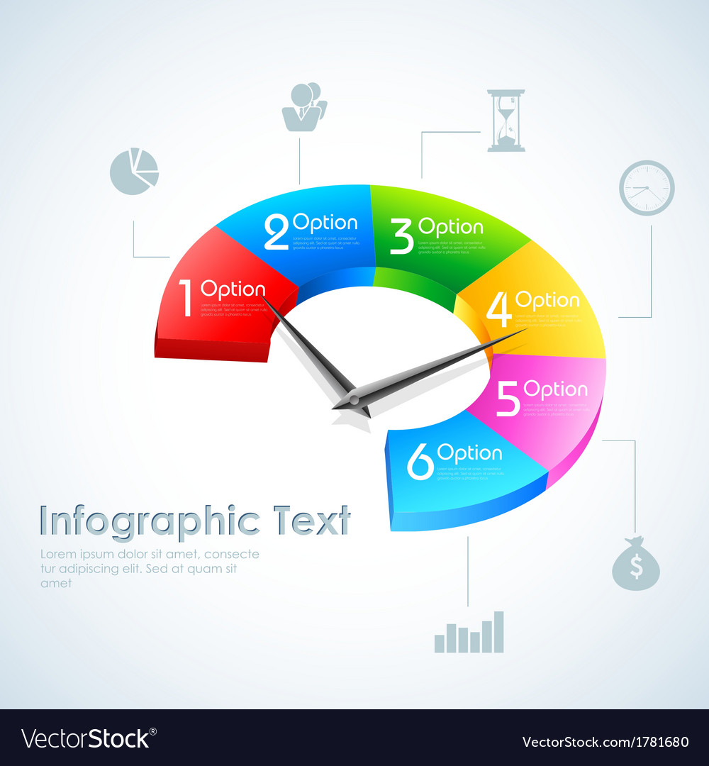 Business infographics pie chart vector | Price: 1 Credit (USD $1)