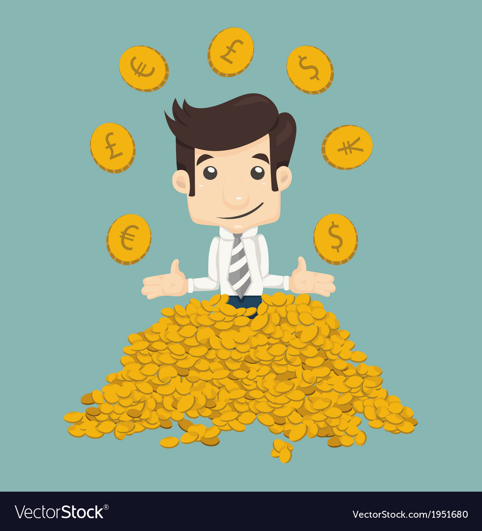 Businessman wealth vector | Price: 1 Credit (USD $1)