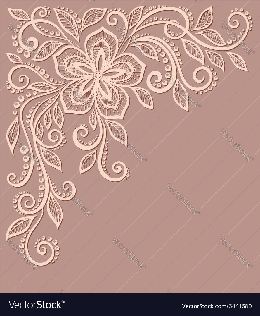 Floral pattern a design element in the old style vector | Price: 1 Credit (USD $1)