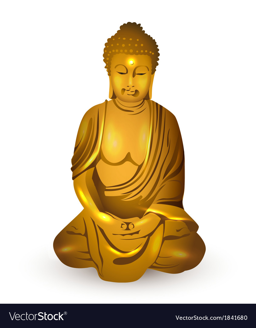 Gold buddha vector | Price: 1 Credit (USD $1)