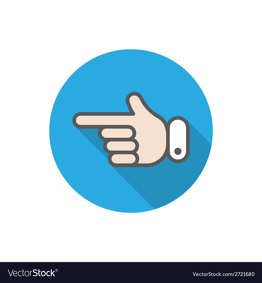 Hand pointer vector | Price: 1 Credit (USD $1)