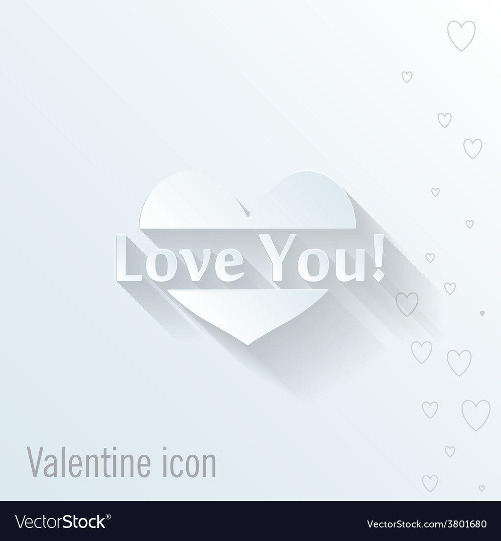 Heart icon valentine greeting card vector   Price: 1 Credit (USD $1)