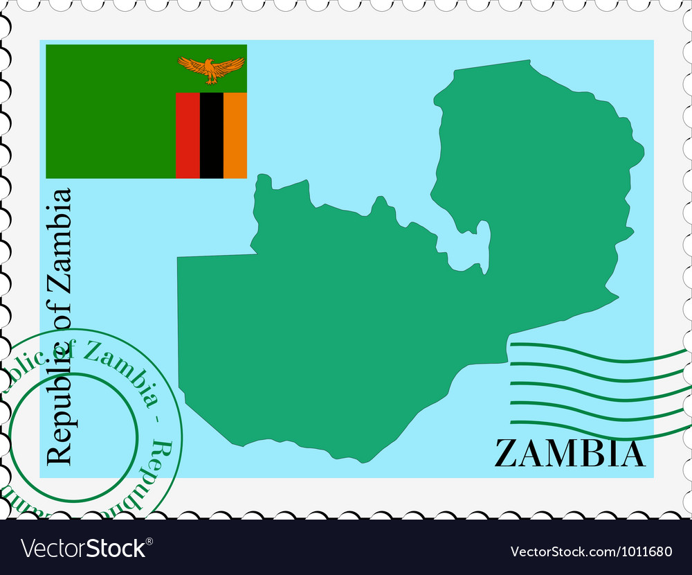Mail to-from zambia vector | Price: 1 Credit (USD $1)