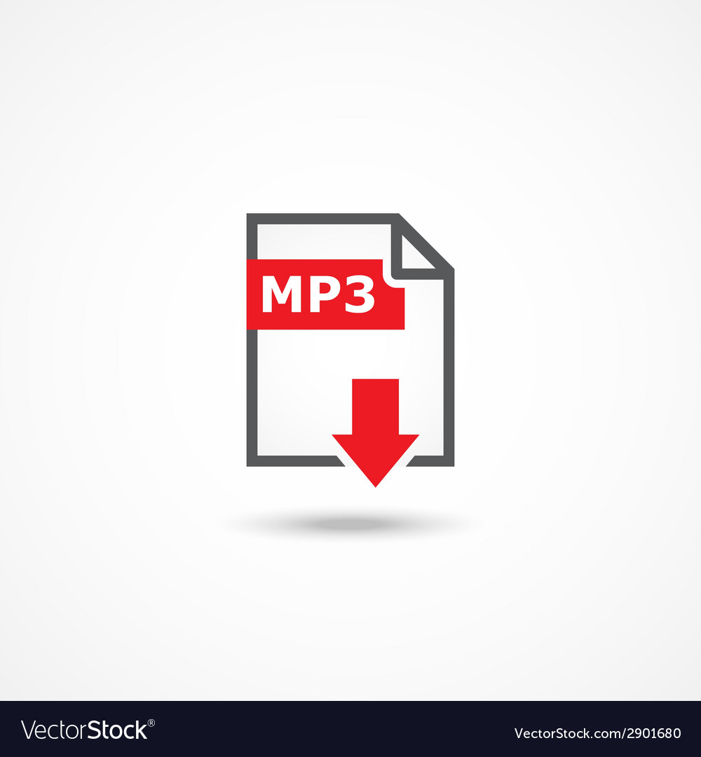 Mp3 download icon vector | Price: 1 Credit (USD $1)