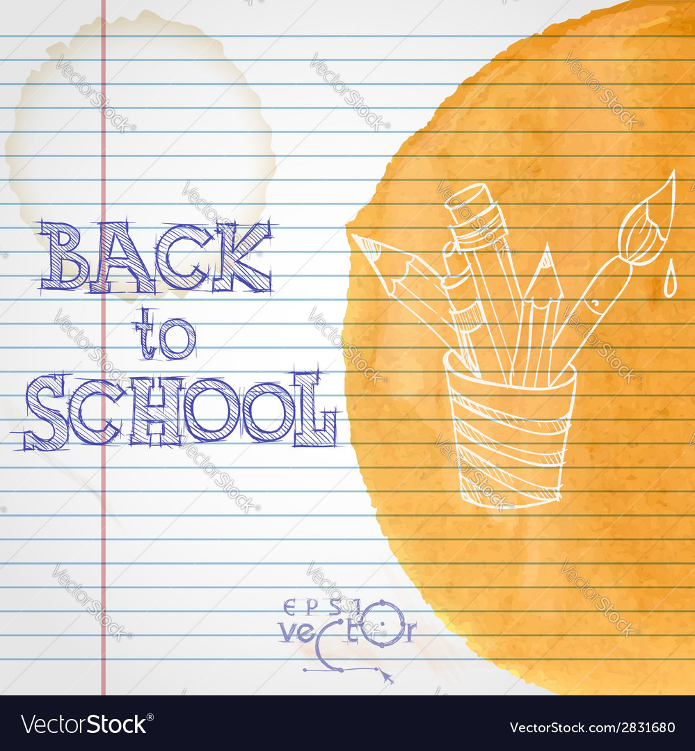 School background vector | Price: 1 Credit (USD $1)