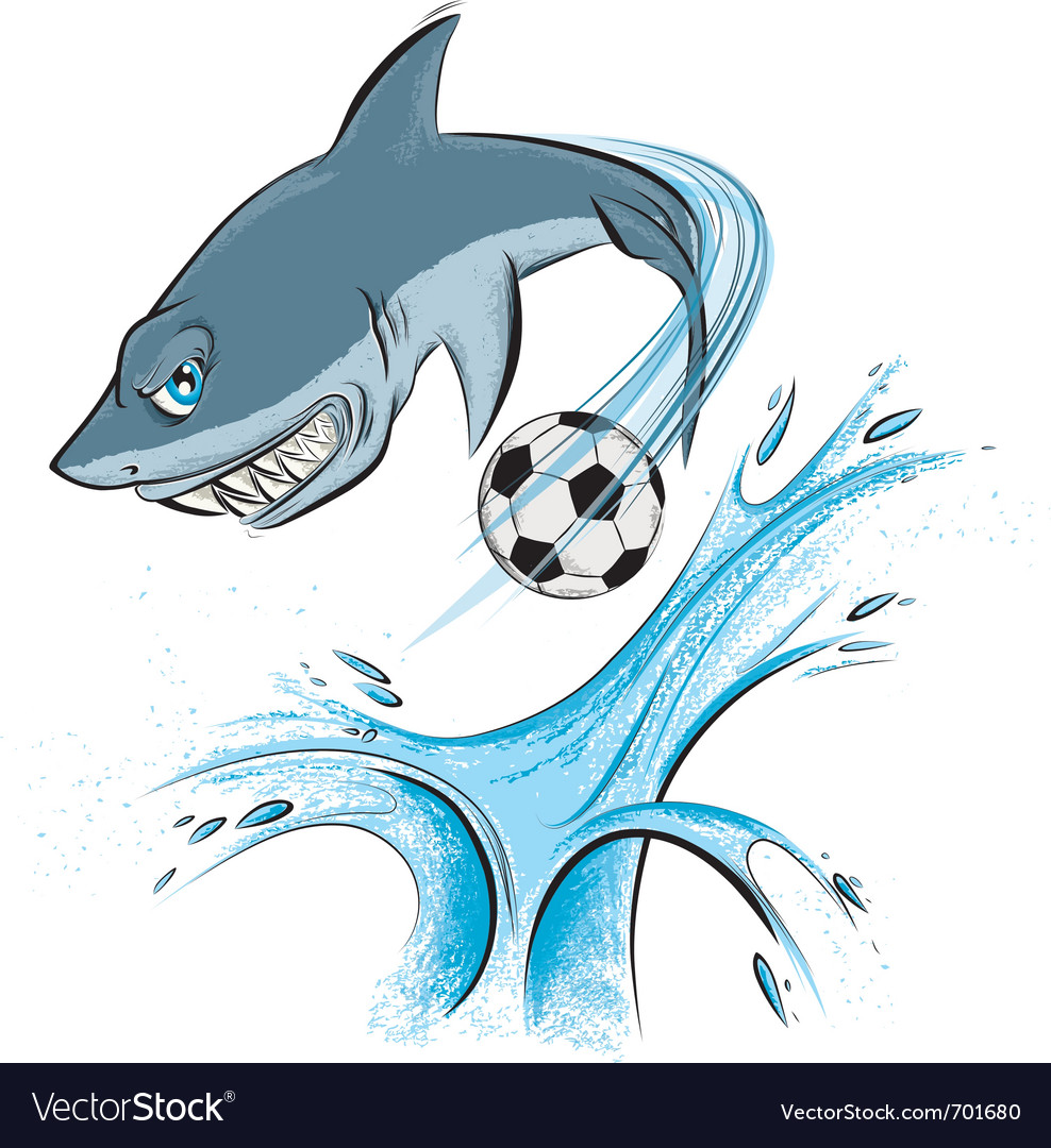 Shark sport mascot vector | Price: 3 Credit (USD $3)