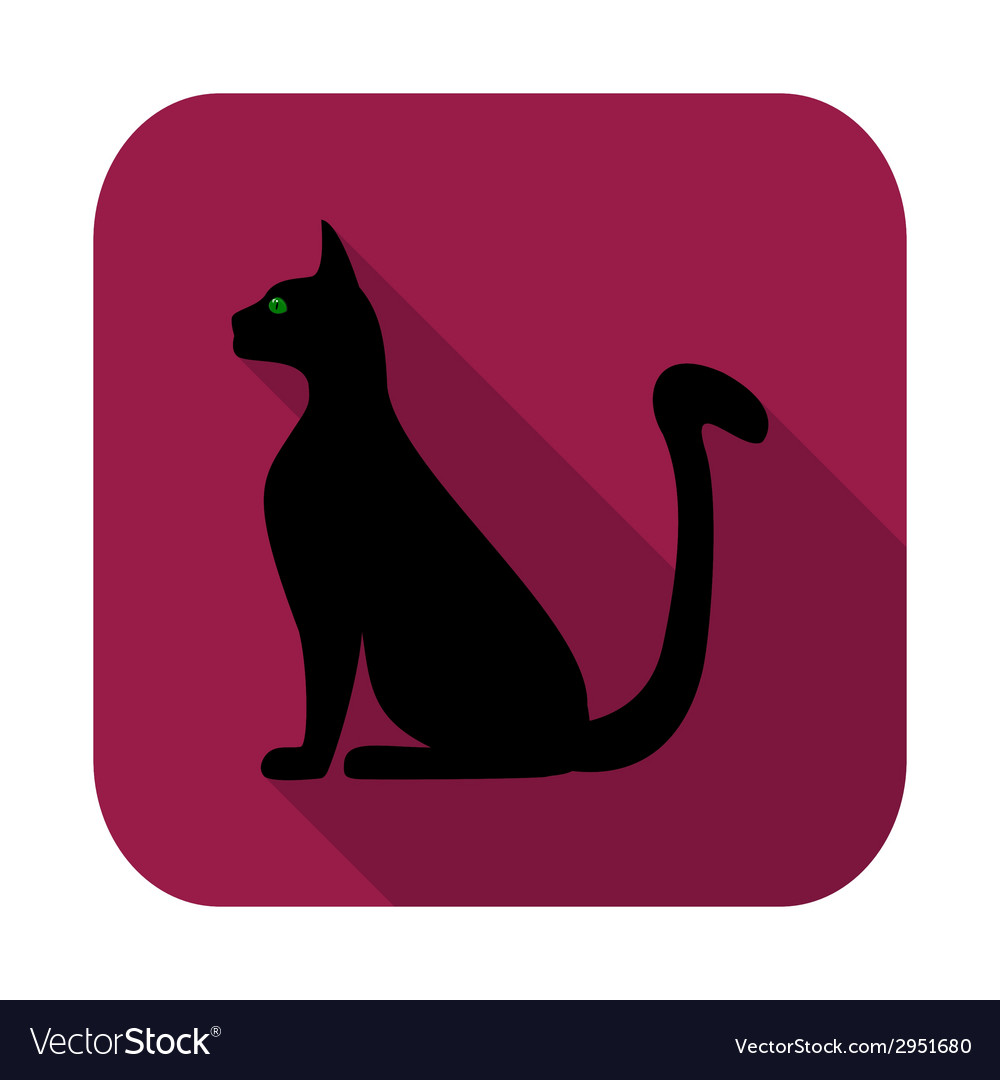 Silhouette of a cat vector | Price: 1 Credit (USD $1)