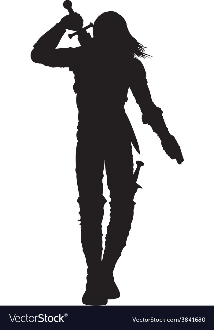 Warrior man silhouette vector | Price: 1 Credit (USD $1)