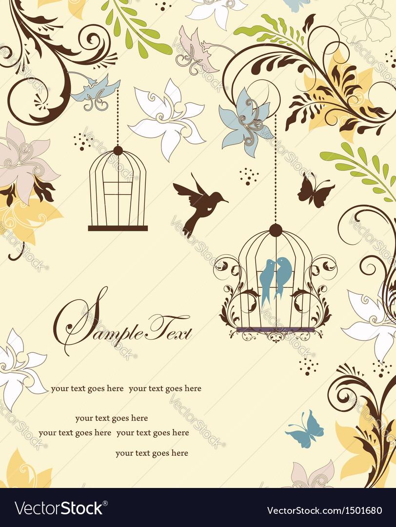 Wedding card or invitation vector | Price: 1 Credit (USD $1)