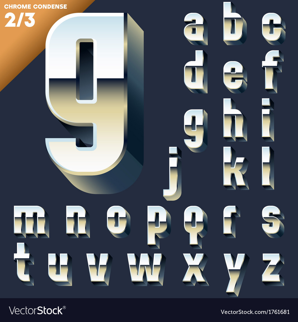 Alphabet of simple 3d letters vector   Price: 1 Credit (USD $1)