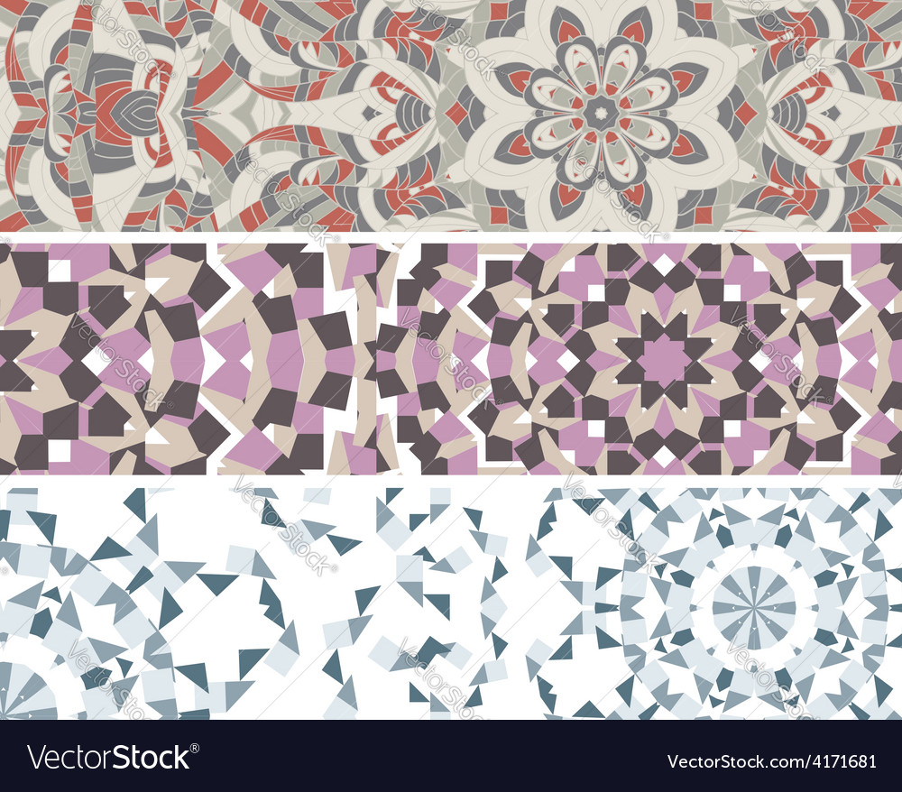 Banners with colorful pattern vector | Price: 1 Credit (USD $1)