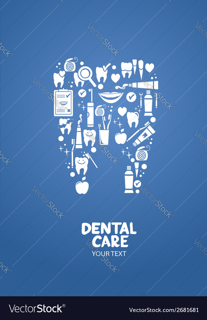 Dental care design concept vector | Price: 1 Credit (USD $1)