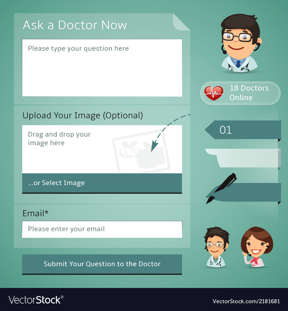 Doctors online consultation form vector | Price: 1 Credit (USD $1)