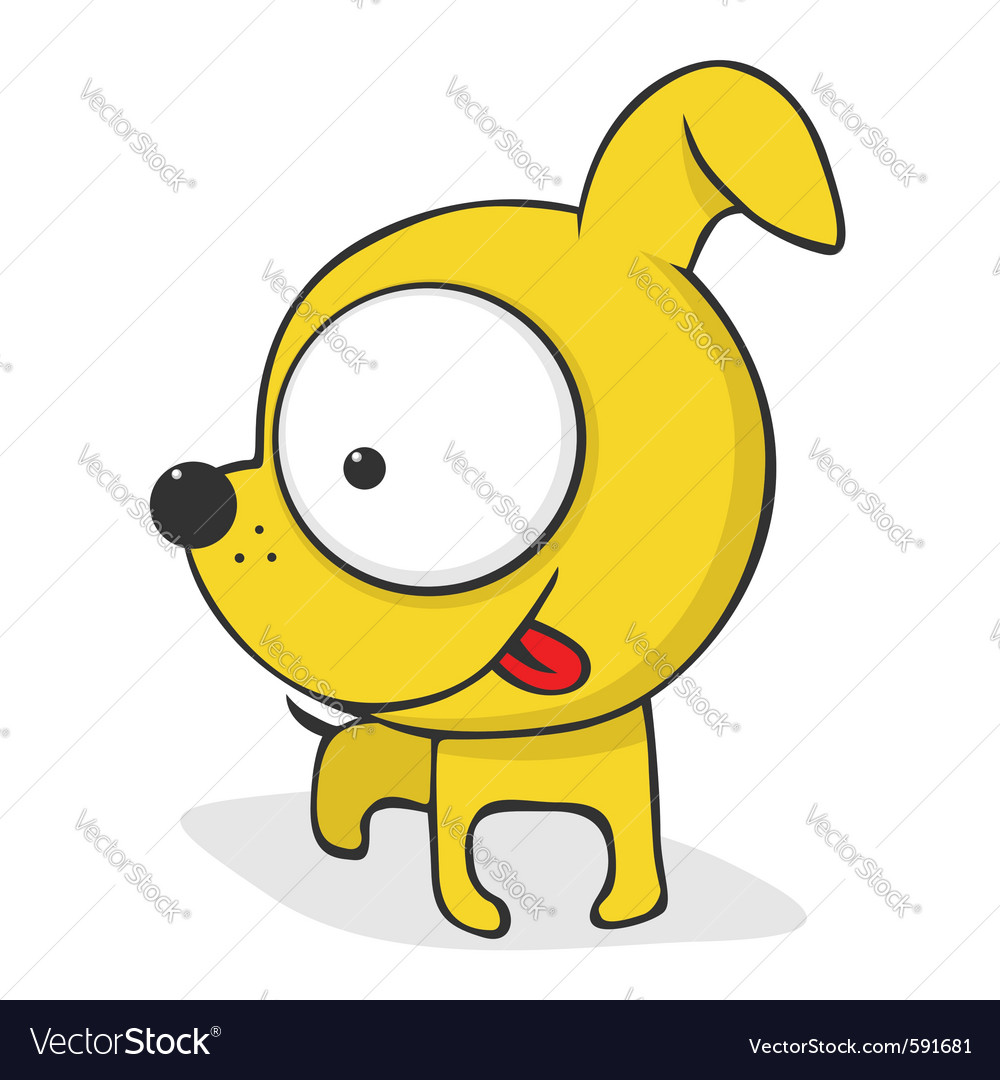 Funny cartoon dog vector | Price: 1 Credit (USD $1)