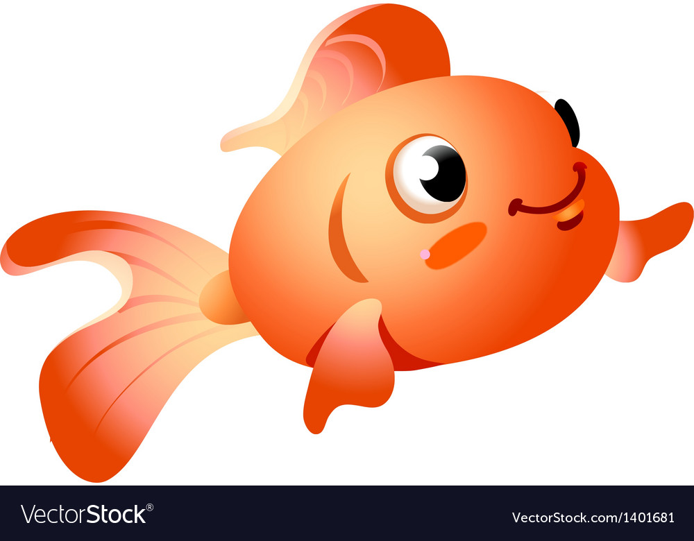 Icon goldfish vector | Price: 1 Credit (USD $1)