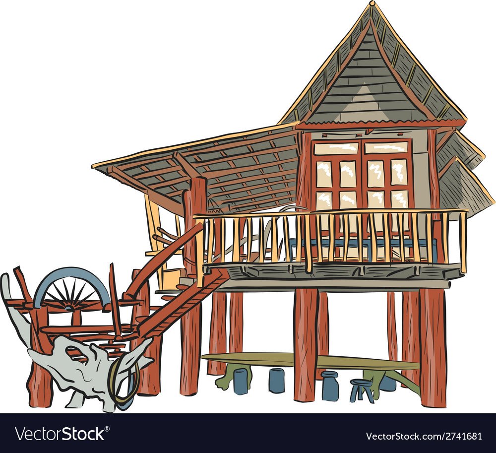 Rustic building vector | Price: 1 Credit (USD $1)
