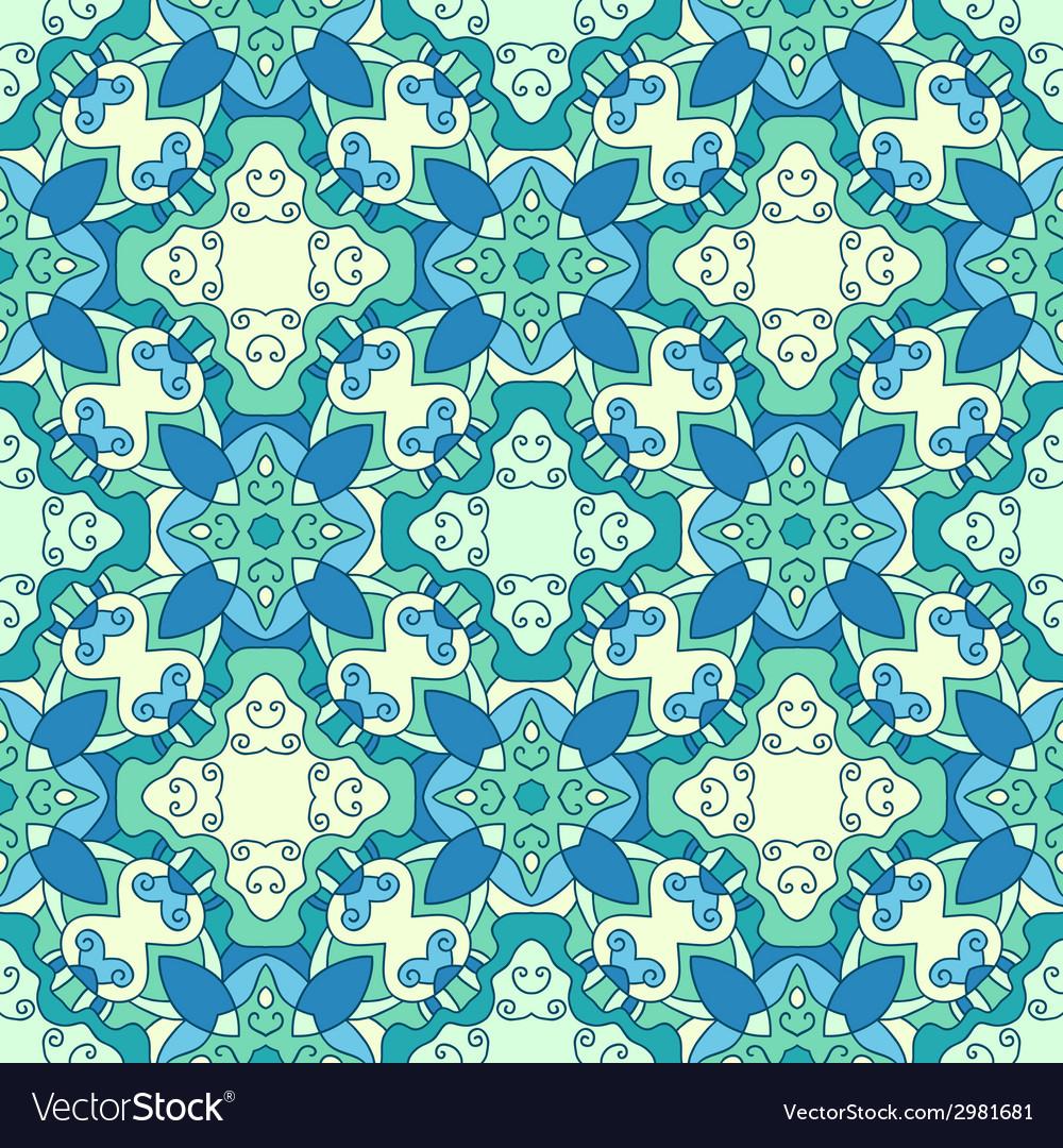 Seamless decorative ornate pattern vector   Price: 1 Credit (USD $1)