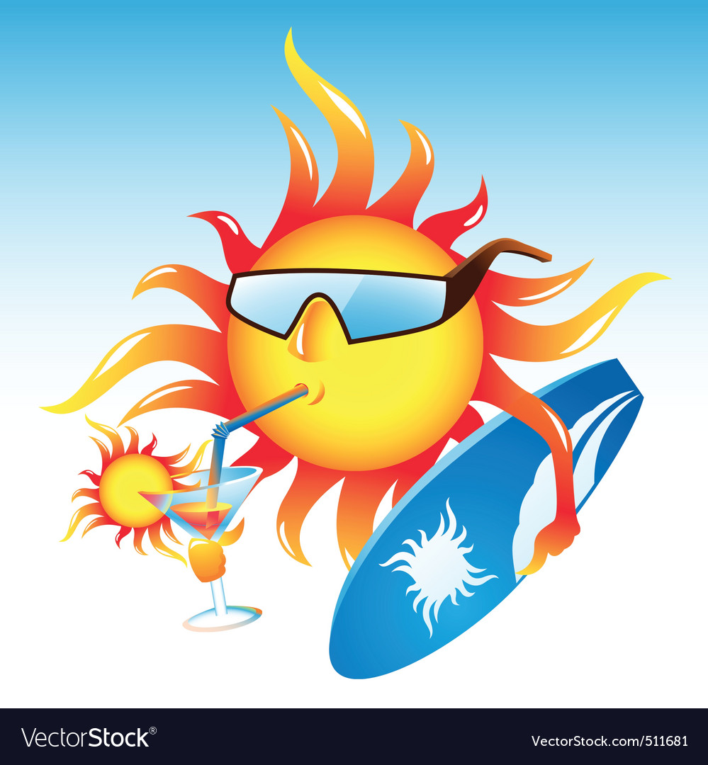 Sun cocktail vector   Price: 3 Credit (USD $3)