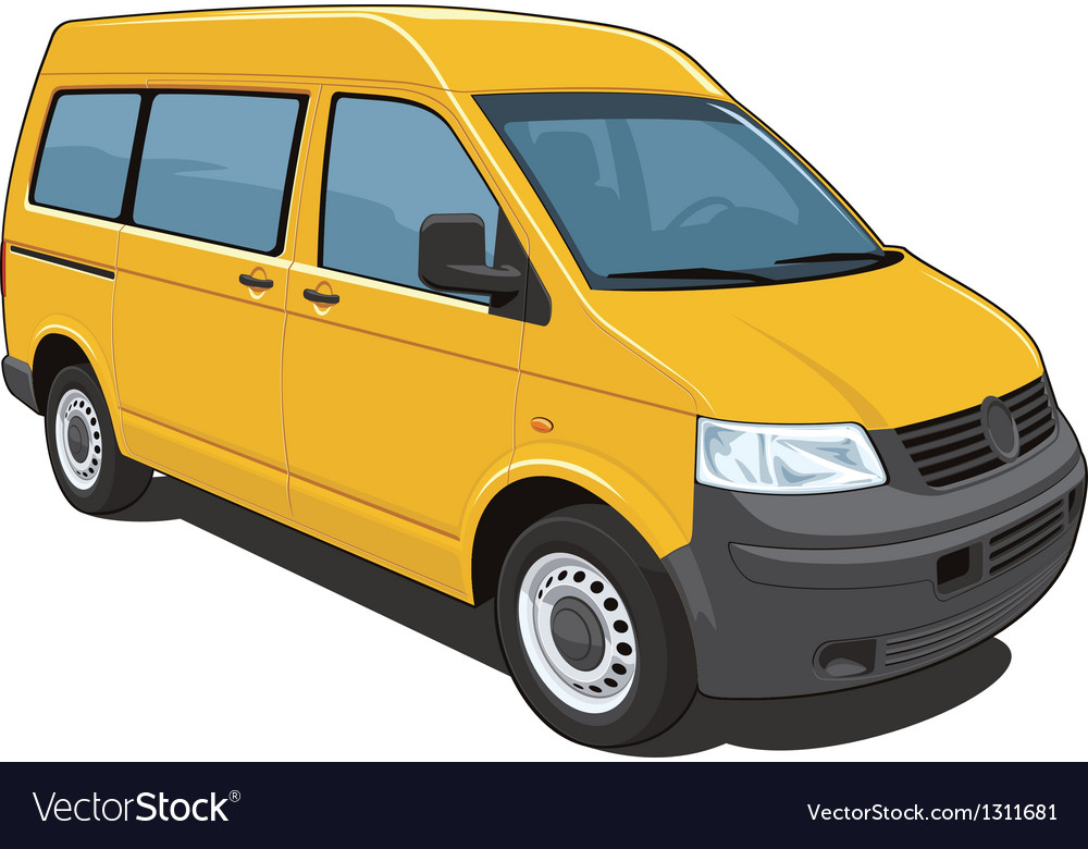 Yellow van vector | Price: 5 Credit (USD $5)