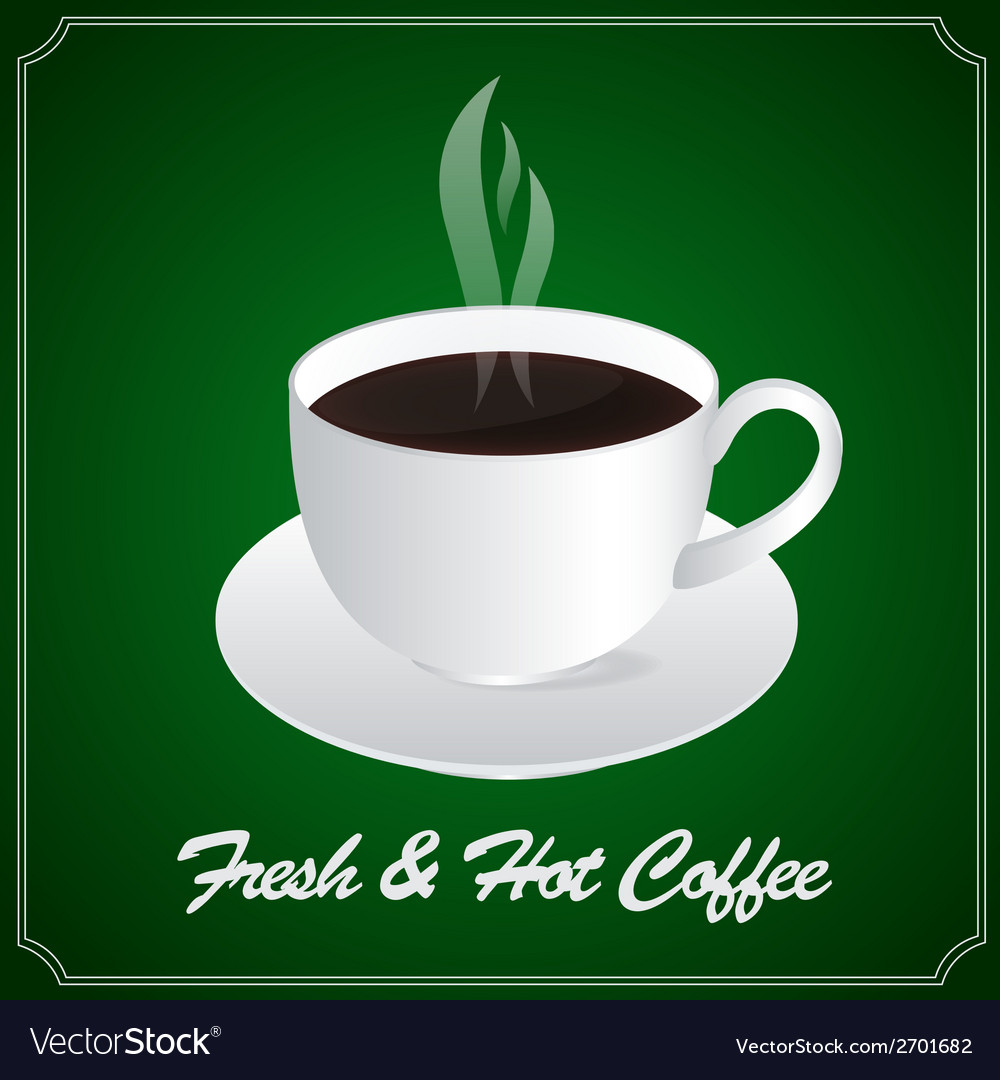 A cup of fresh and hot coffee vector | Price: 1 Credit (USD $1)