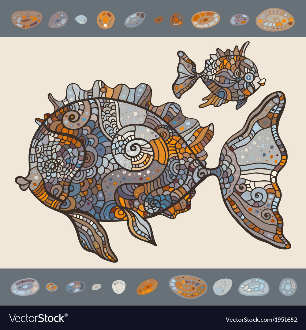 Abstract cartoon sea fish vector | Price: 1 Credit (USD $1)