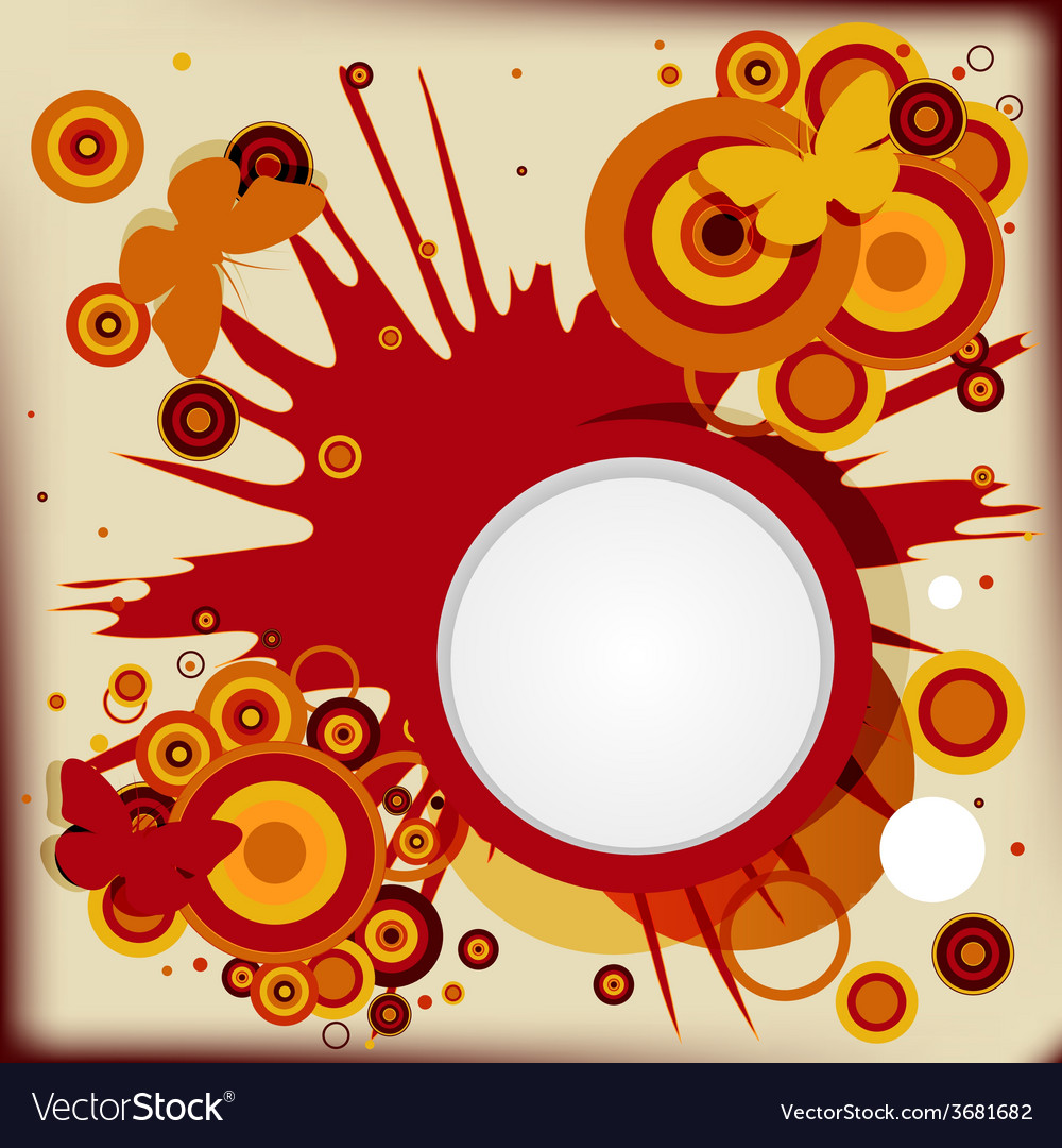 Abstract grunge background with explosion circles vector | Price: 1 Credit (USD $1)