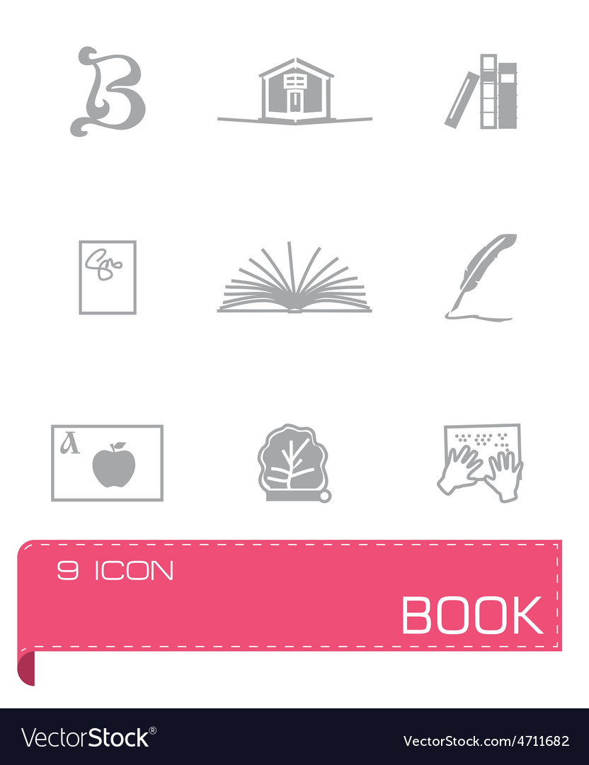 Book icon set on vector | Price: 1 Credit (USD $1)