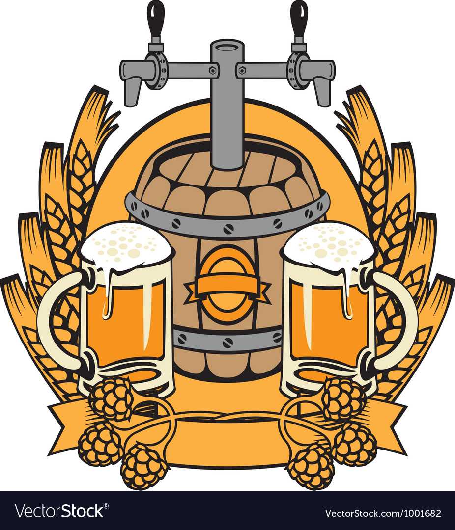 Cask beer vector | Price: 3 Credit (USD $3)