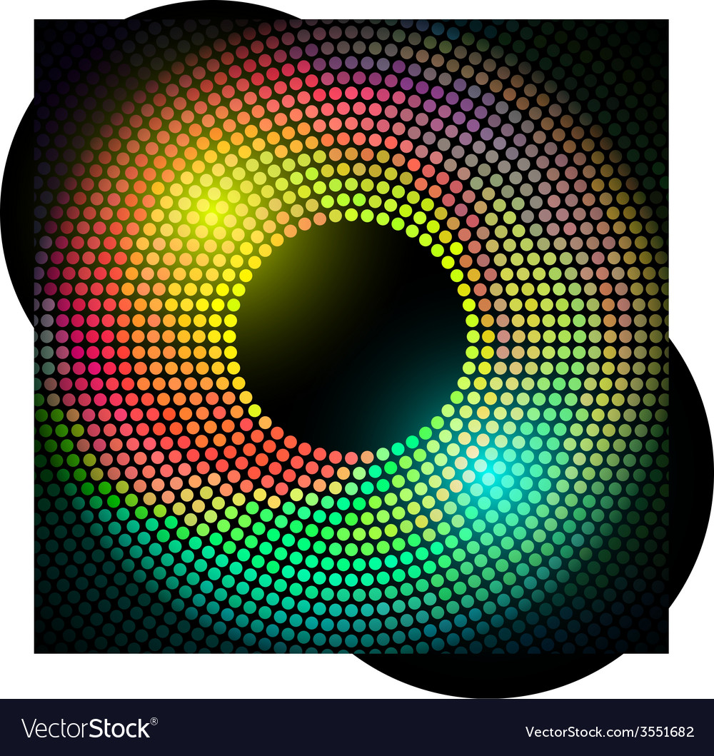 Colorful disco lights frame vector | Price: 1 Credit (USD $1)