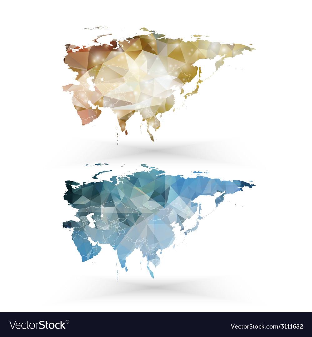 Eurasia map template triangle design vector | Price: 1 Credit (USD $1)