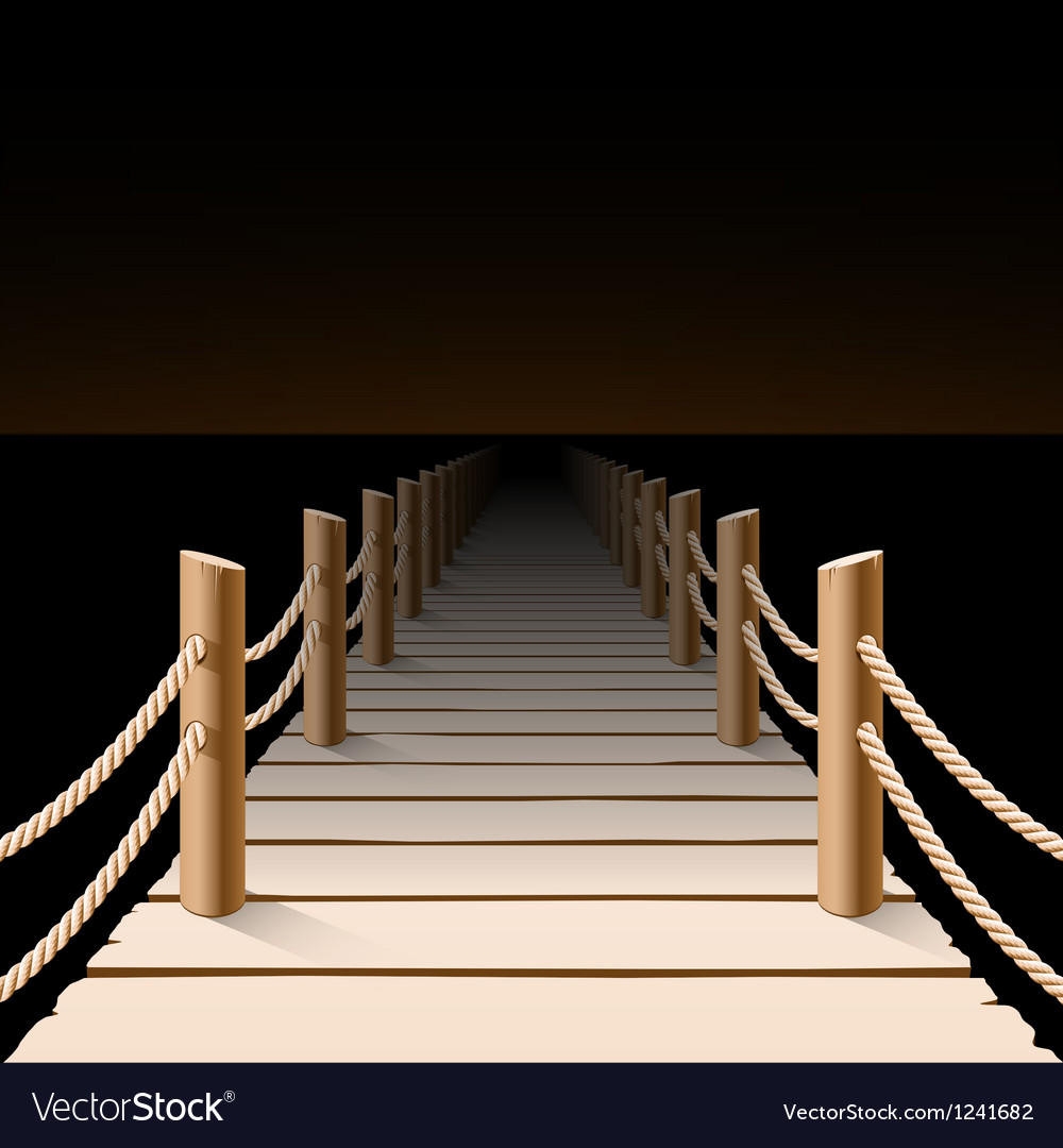 Night pier vector | Price: 3 Credit (USD $3)