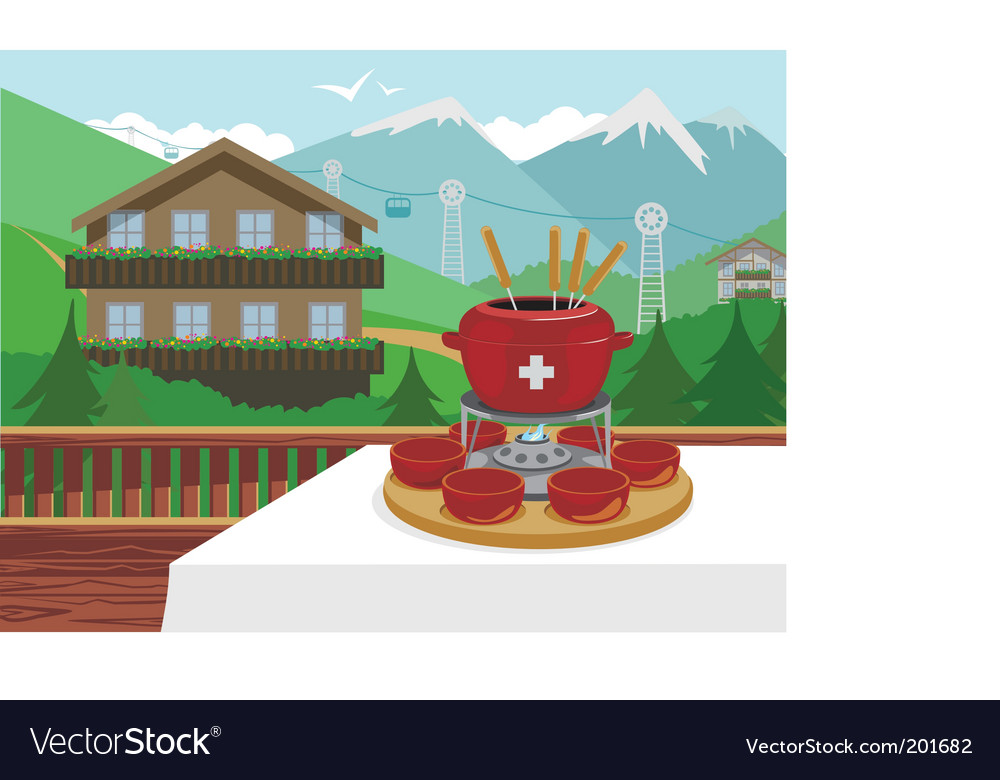 Swiss fondue vector | Price: 3 Credit (USD $3)