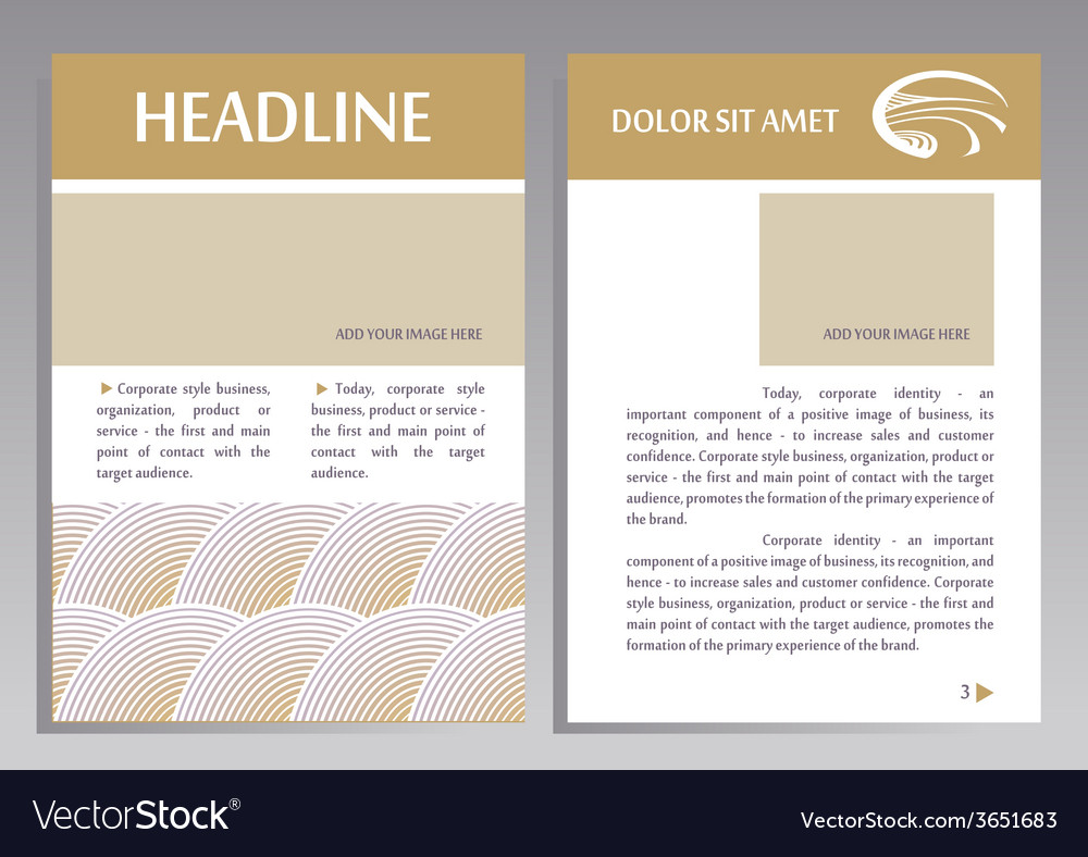 Brochure flyer design template in a4 size layout vector | Price: 1 Credit (USD $1)