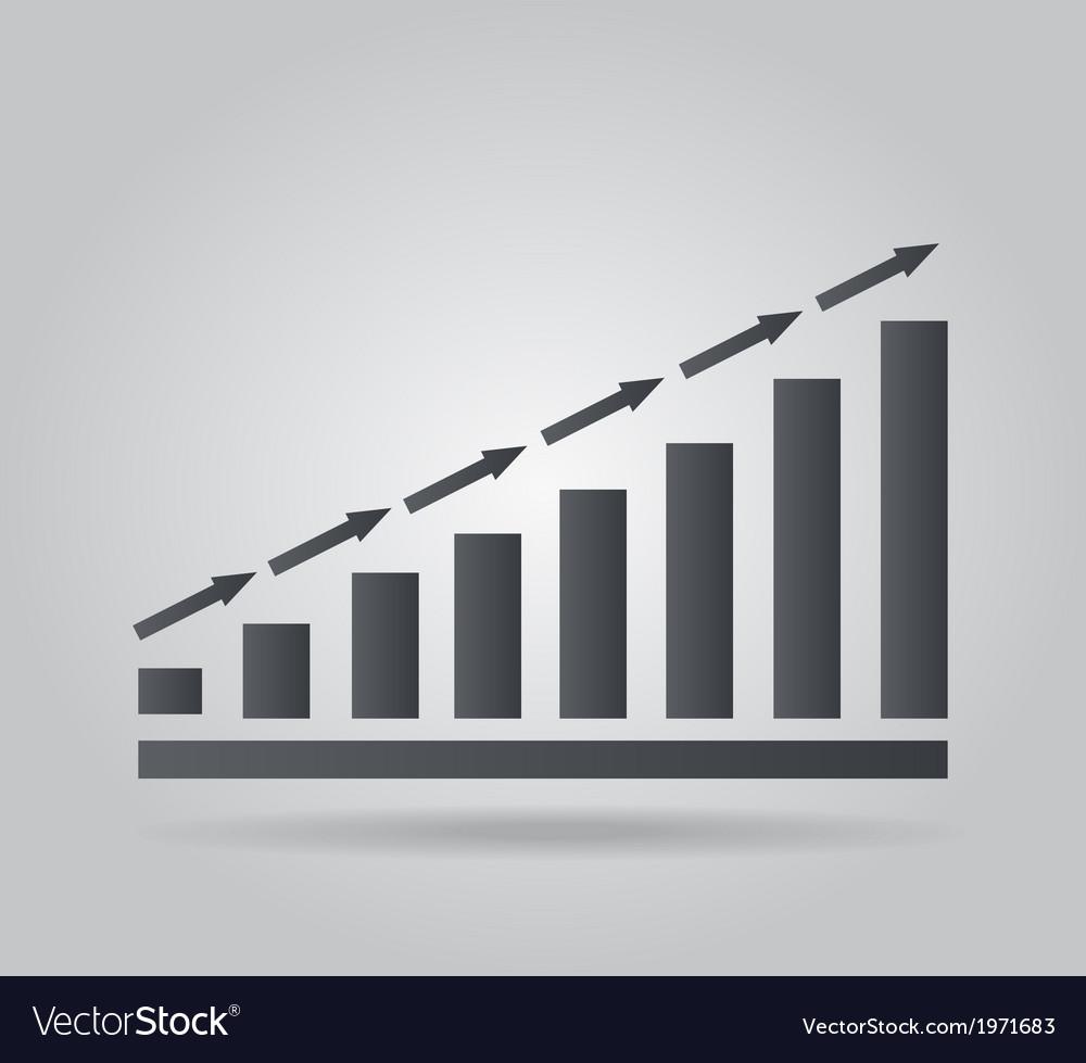 Graph icon vector | Price: 1 Credit (USD $1)