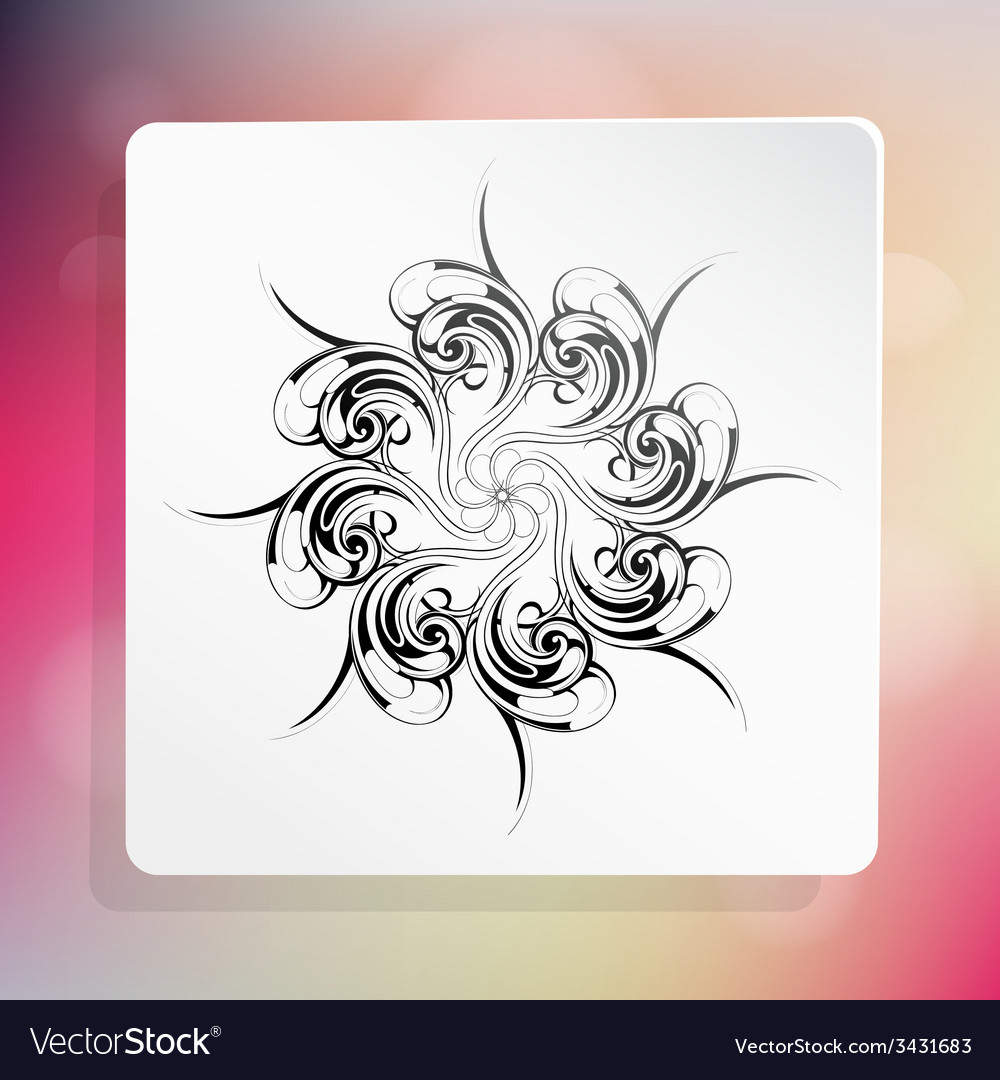 Graphic design element with ethnic ornament vector | Price: 1 Credit (USD $1)