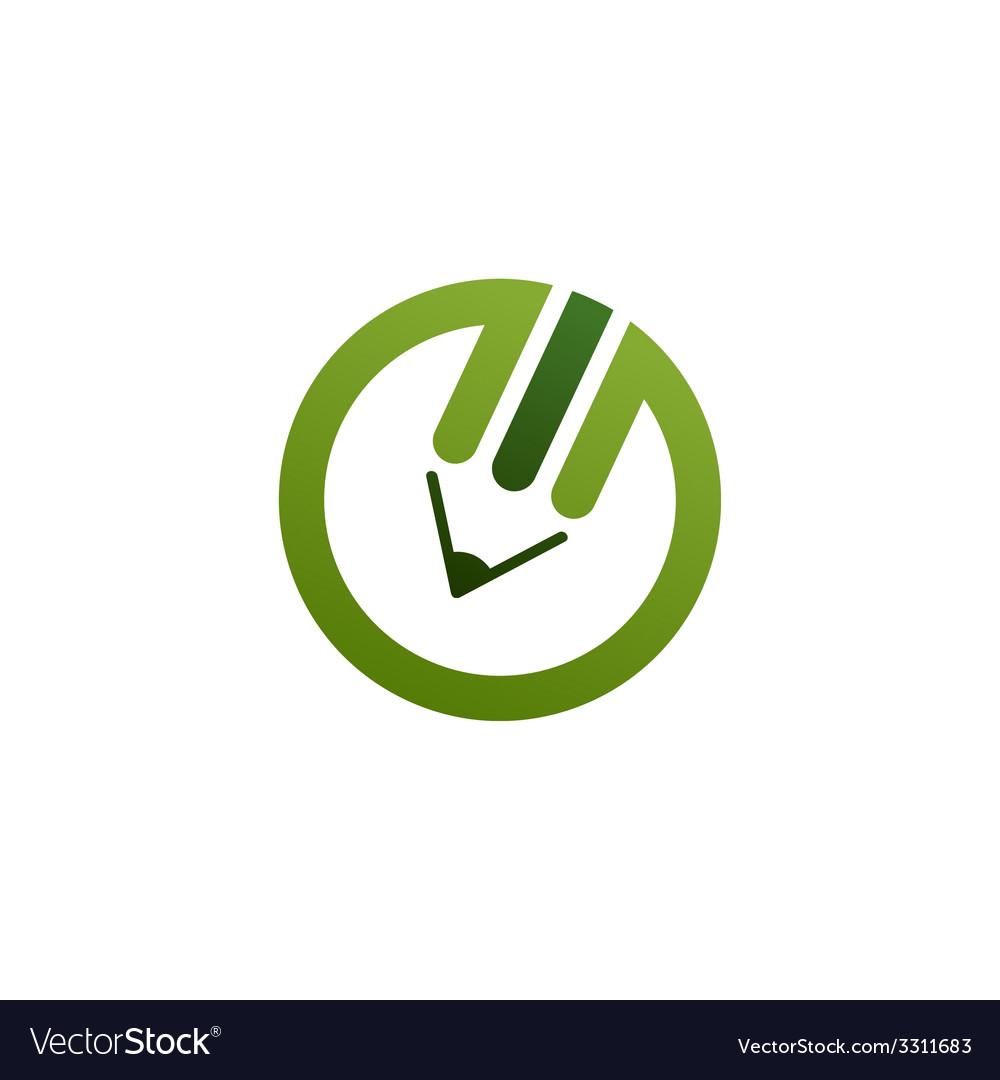 Green pencil logo vector | Price: 1 Credit (USD $1)