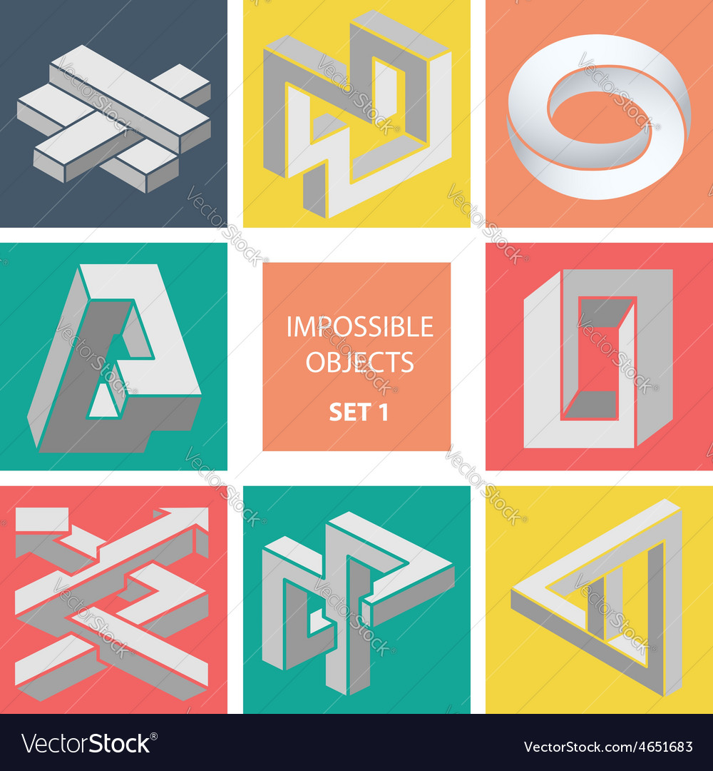 Impossible objects set 1 vector   Price: 1 Credit (USD $1)