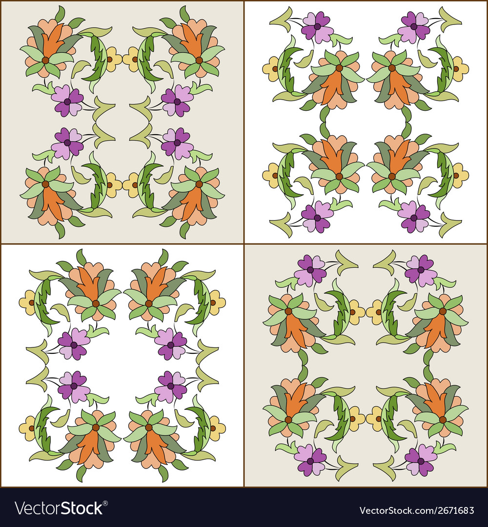 Ottoman motifs design series eighty four vector | Price: 1 Credit (USD $1)
