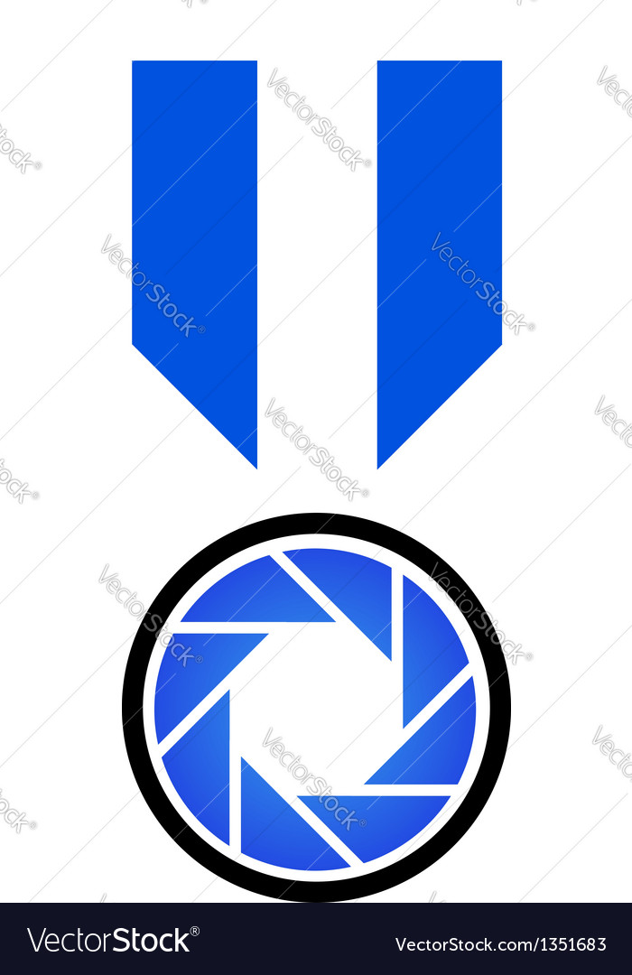 Photography logo concept in blue vector | Price: 1 Credit (USD $1)