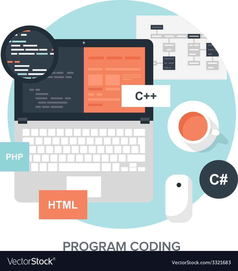 Program coding vector | Price: 1 Credit (USD $1)