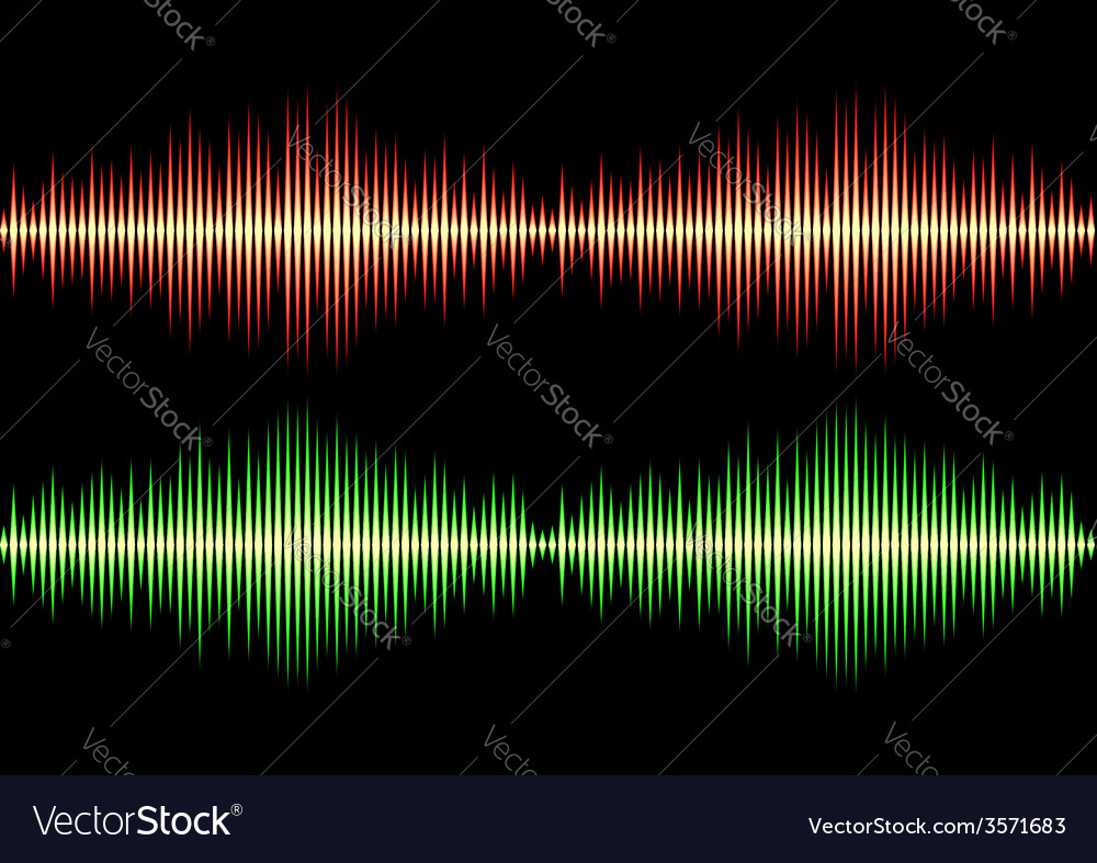Seamless music wave pattern vector | Price: 1 Credit (USD $1)